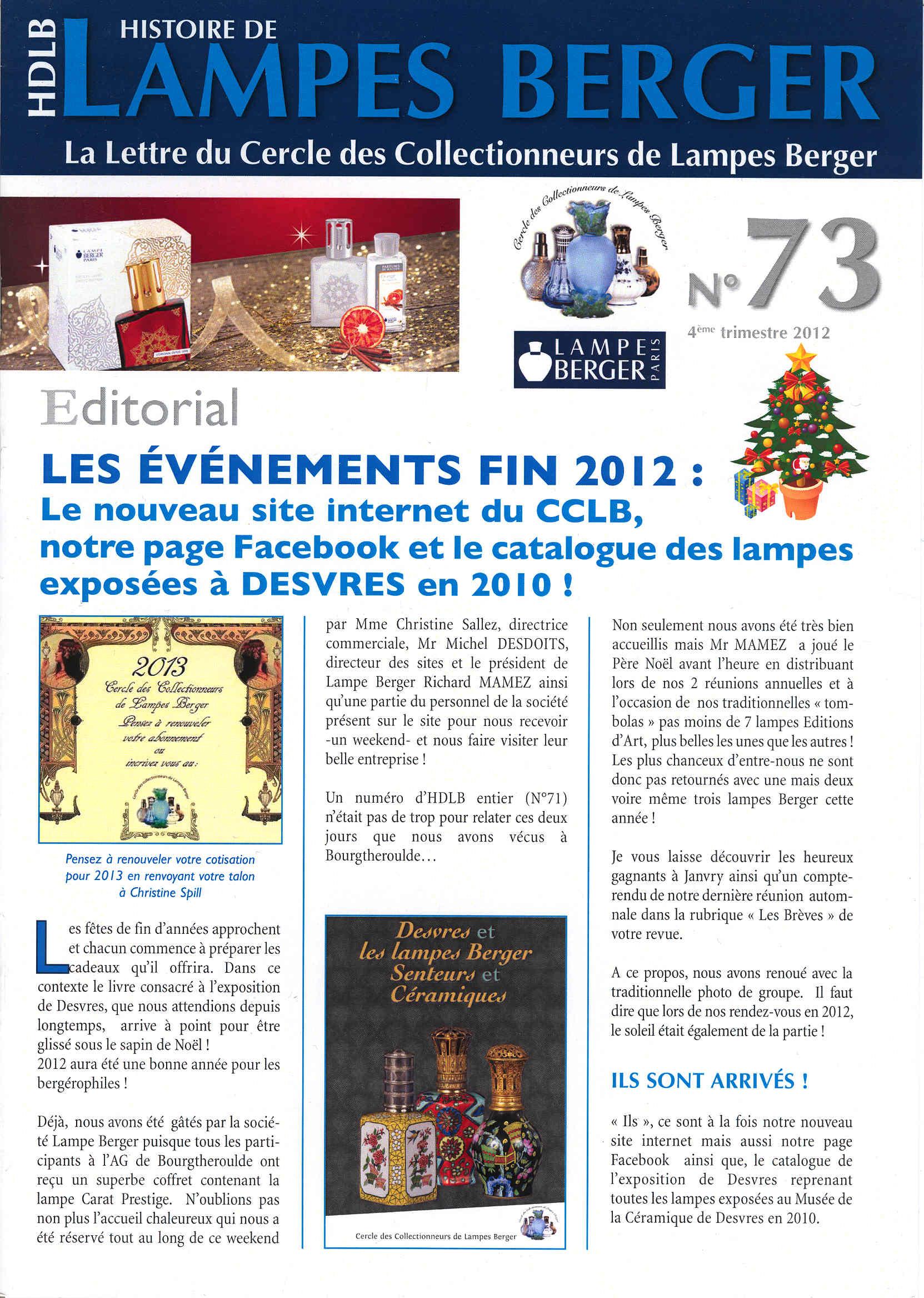 Revue Histoire De Lampes Berger (2)